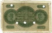 500 Francs (Banque Cantonale Neuchâteloise) -  reverse