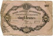 20 Francs (Banque Cantonale Neuchâteloise) – obverse