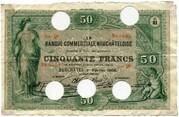 50 Francs (Banque Commerciale Neuchâteloise) – obverse