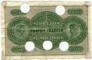 50 Francs (Banque Commerciale Neuchâteloise) – reverse