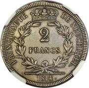 2 Francs - Alexandre Berthier (Trial Strike) – reverse