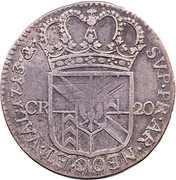 20 Kreuzer - Friedrich I – reverse