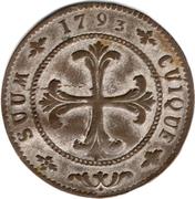 4 Kreuzer - Friedrich Wilhelm II – reverse