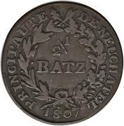 ½ Batzen - Alexandre Berthier – reverse