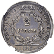 2 Francs - Alexandre Berthier – reverse