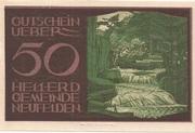 50 Heller (Neufelden) -  reverse
