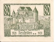 80 Heller (Neufelden - Bezirksausschuss für Jugendfürsorge) -  reverse
