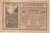 20 Heller (Neuhaus) – obverse