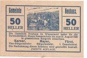 50 Heller (Neuhaus) – obverse