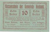 10 Heller (Neuhaus) – obverse
