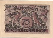 75 Heller (Neuhof) -  obverse