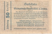 50 Heller (Neuhofen a. d. Ybbs) -  reverse