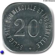 20 Centimes (Neuilly s/ Seine) – reverse