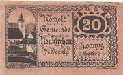 20 Heller (Neukirchen a. d. Vöckla) – obverse
