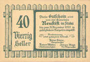 40 Heller (Neustift in Stubai) -  reverse