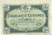 50 centimes - Chambre de Commerce de Nevers – reverse