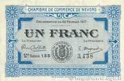 1 franc - Chambre de Commerce de Nevers – obverse