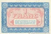 1 franc - Chambre de Commerce de Nevers – reverse
