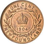 1 Cent - Edward VII -  reverse