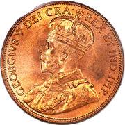 1 Cent - George V – obverse