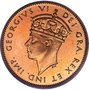1 Cent - George VI -  obverse