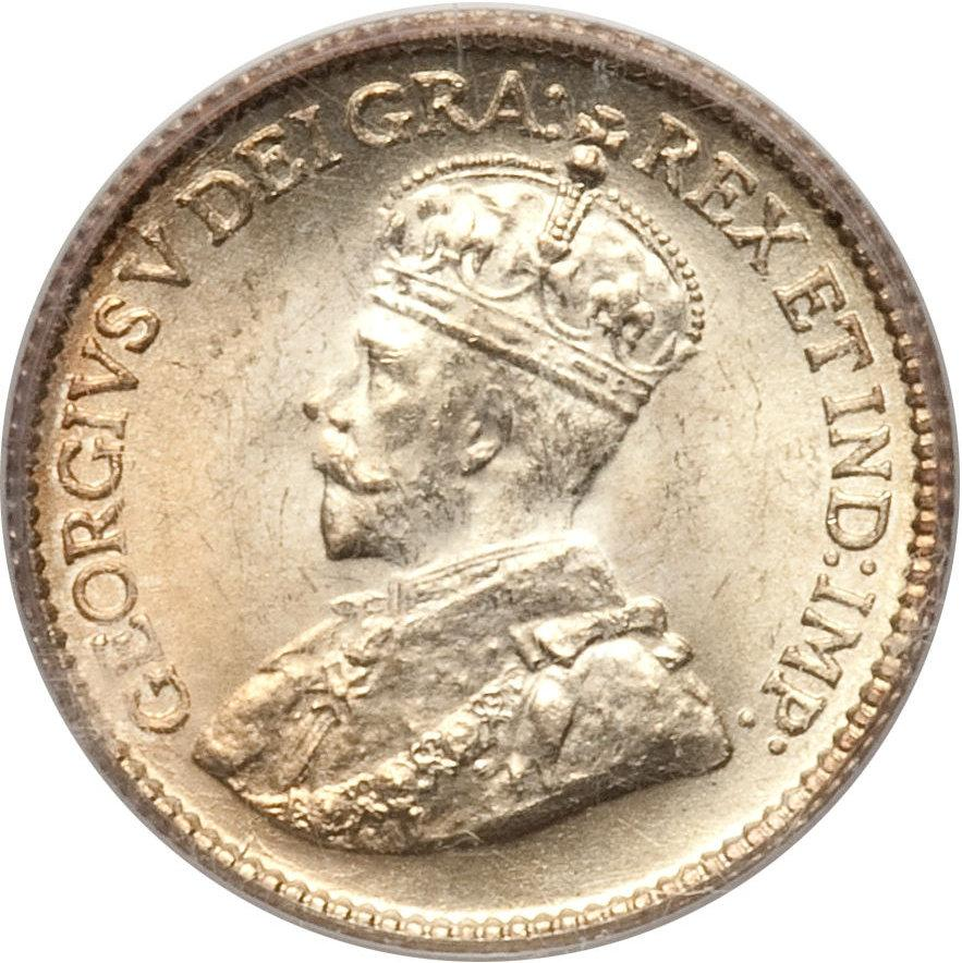 1 Coin Only Circulated Silver! 1929 Newfoundland 5 Cent Many Available