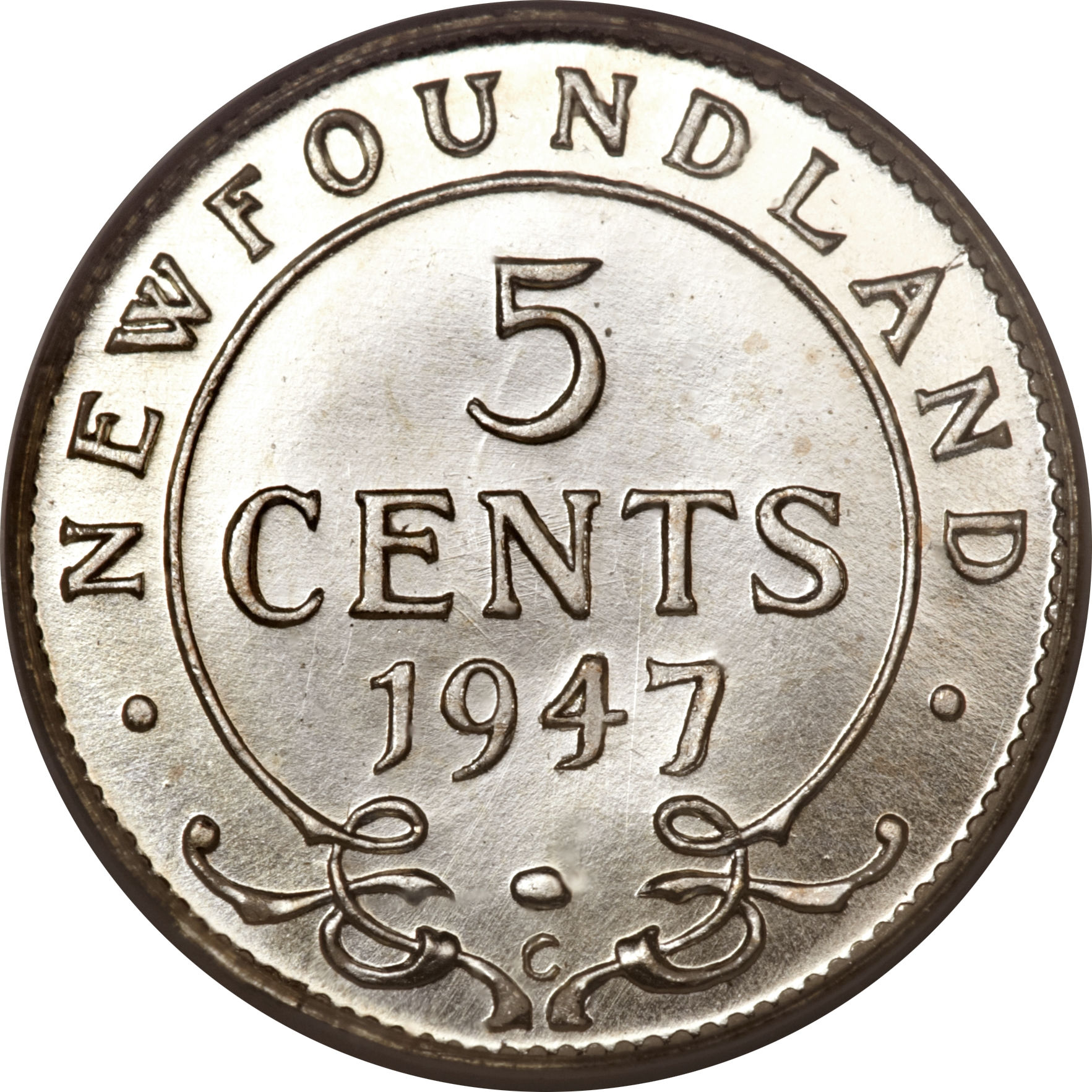 1 Coin Only 1944-C Newfoundland 5 Cent Silver! Circulated Many Available