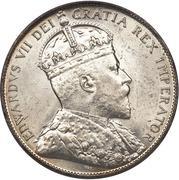 50 Cents - Edward VII -  obverse