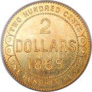 2 Dollars - Victoria (Pattern) – reverse