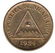 ½ Centavo – obverse