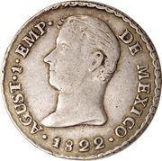 1 Real - Agustín I (Proclamation coinage) – obverse
