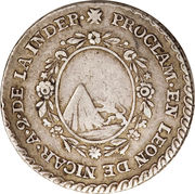 1 Real - Agustín I (Proclamation coinage) – reverse