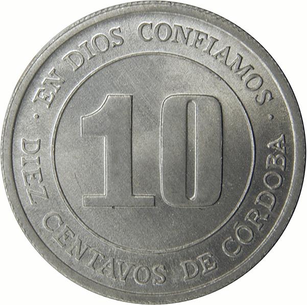 Nicaragua 10 Centavos 2007 21mm Aluminium Coin UNC