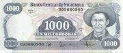 1 000 Cordobas – obverse