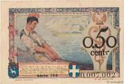 50 centimes - Chambre de Commerce de Nice et des Alpes Maritimes – reverse