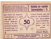 50 Heller (Niederneukirchen) – obverse