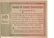 10 Heller (Niederneukirchen) – obverse