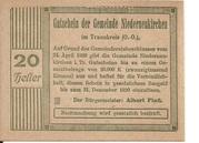 20 Heller (Niederneukirchen) – obverse