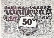 50 Heller (Wallsee) -  obverse