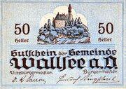 50 Heller (Wallsee) -  reverse