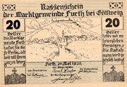 20 Heller (Furth bei Göttweig; Grey green issue) -  obverse
