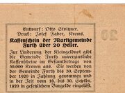 20 Heller (Furth bei Göttweig; Grey green issue) -  reverse
