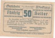 50 Heller (Winklarn) -  reverse
