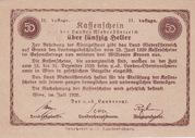 50 Heller (Niederösterreich) – reverse