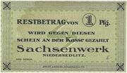 1 Pfennig (Sachsenwerk) – obverse