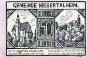 50 Heller (Niedertalheim; Lilac issue) -  obverse