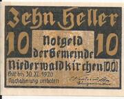 10 Heller (Niederwaldkirchen) -  obverse