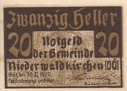 20 Heller (Niederwaldkirchen) -  obverse