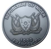 1000 Francs CFA (Mount Tazerzait Meteorite) – obverse