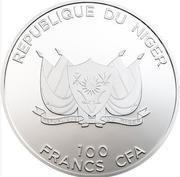 100 Francs CFA (Mecca Compass) – obverse
